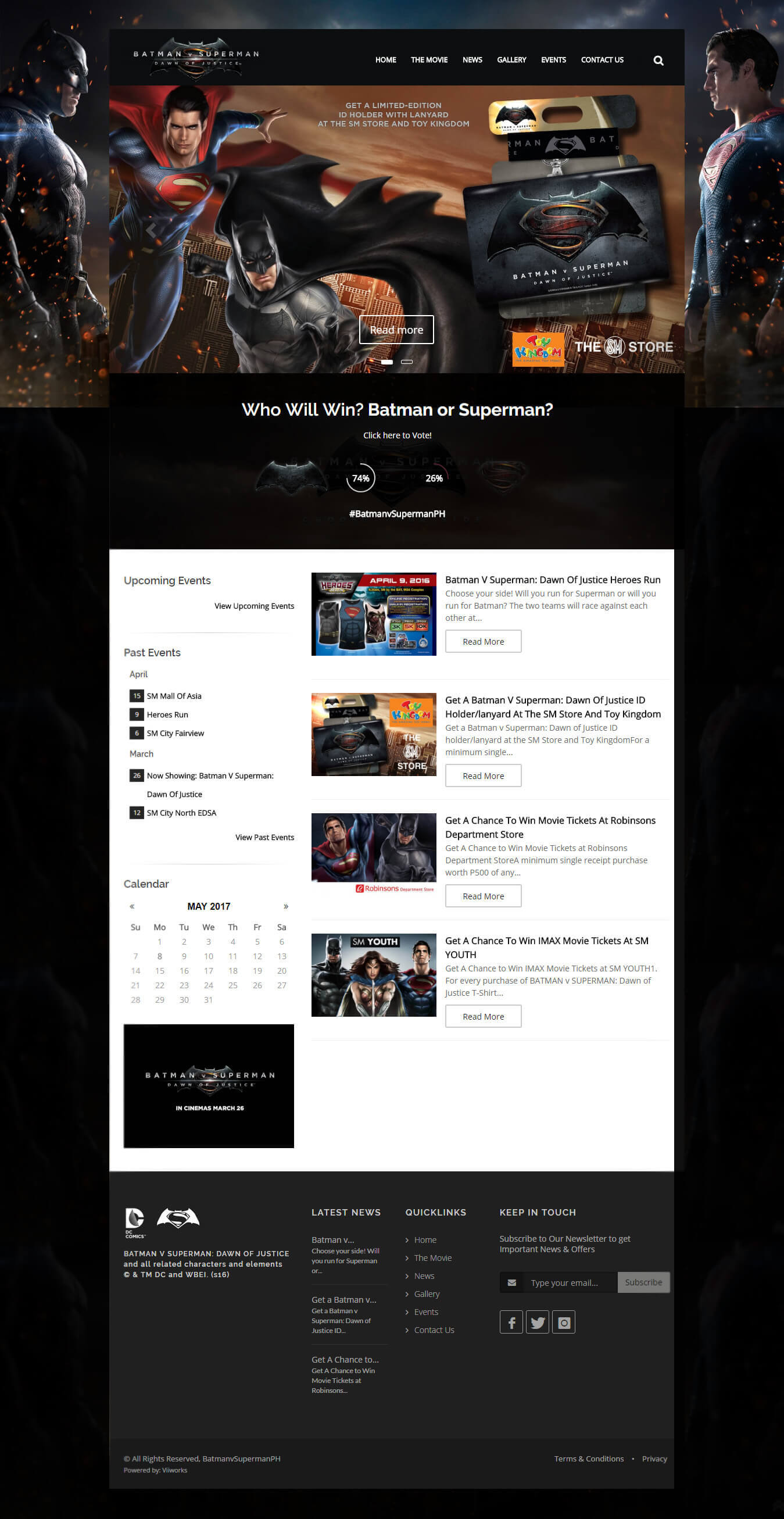batman vs superman website